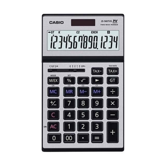 تصویر ماشین حساب رومیزی کاسیو مدل JS-140TVS ماشین حساب کاسیو JS-140TVS Desktop Calculator