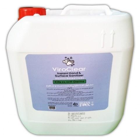 محلول ضدعفونی کننده دست و سطوح بر پایه الکل ۷۰% معطر حاوی گلیسیرین و ویتامین ای ۴  لیتری وایروکلیر (سیلورفاکس)  - ViroClear (SILVER FOX)