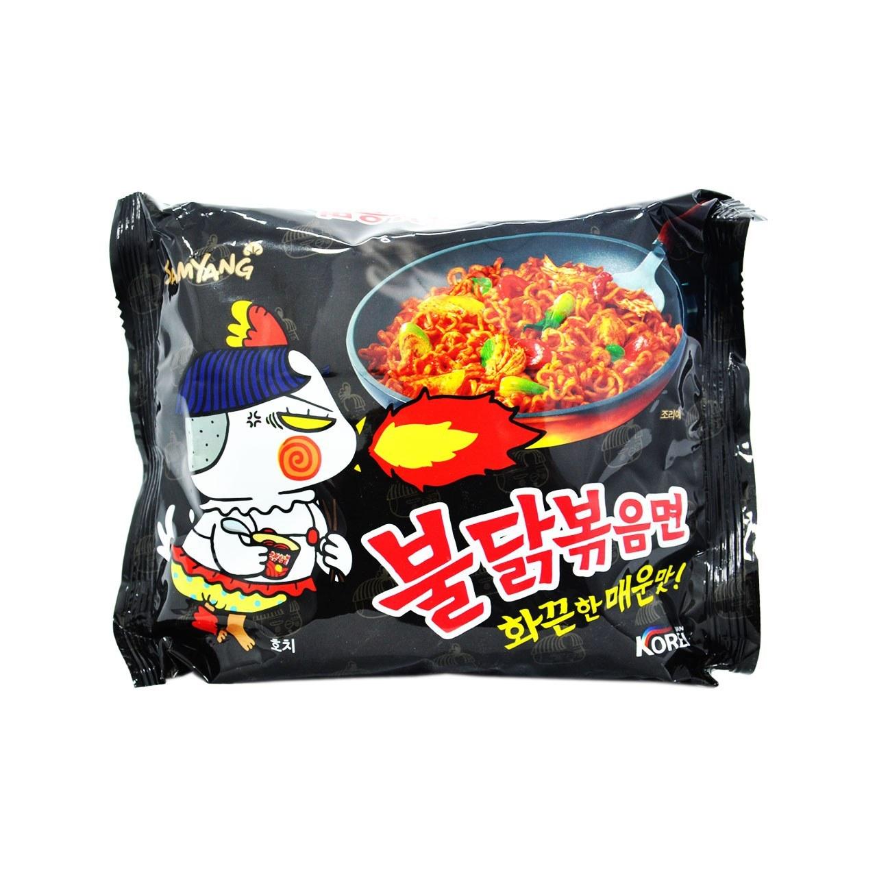 تصویر نودل کره ای ( رامن ) مرغ خیلی تند ۱۴۰ گرم بولداک سامیانگ – samyang