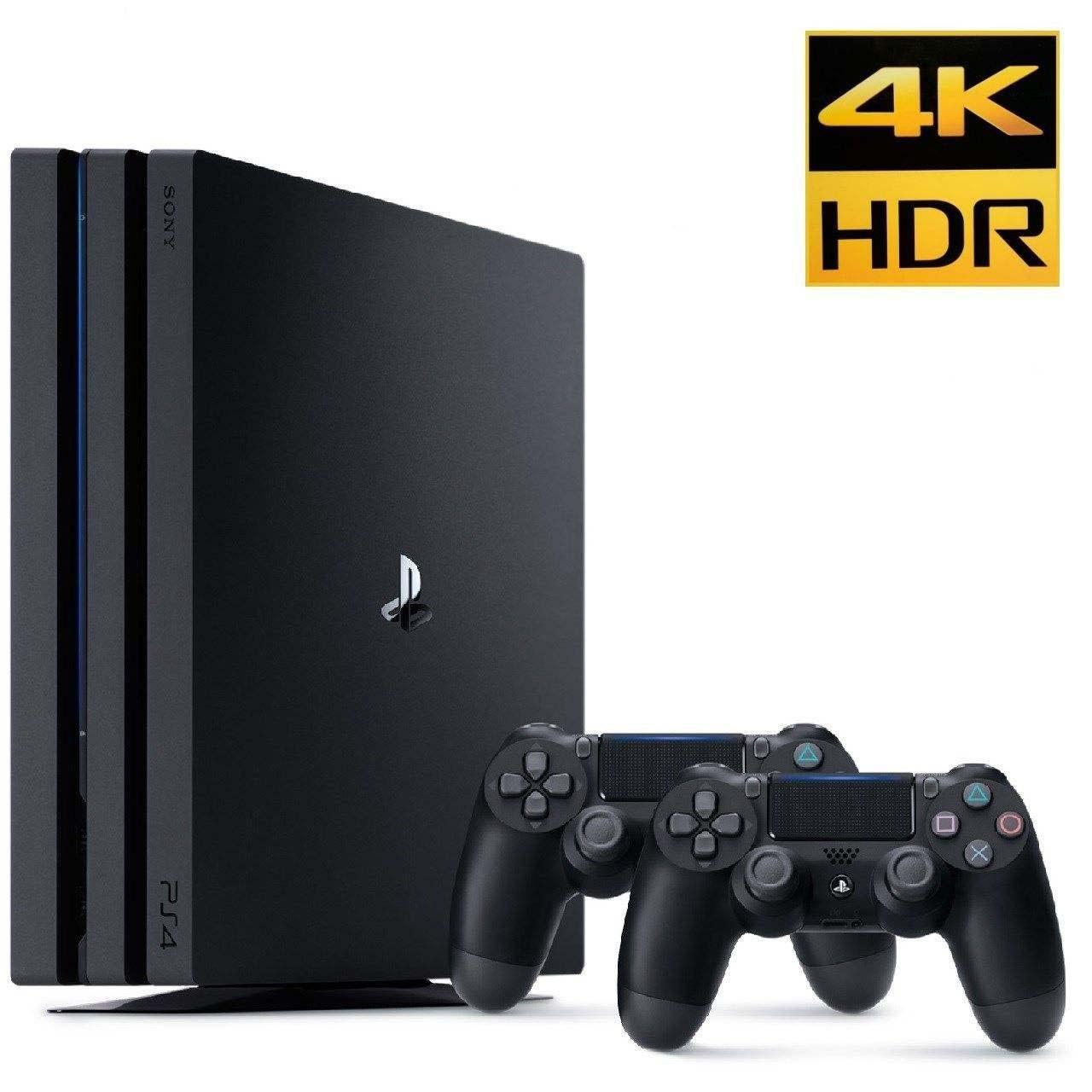 تصویر کنسول بازی سونی PlayStation 4 Pro ظرفیت 1 ترابایت | پلی استیشن 4 پرو + یک دسته اضافه Sony Playstation 4 Pro R2 CUH-7216 1TB With Double Controller