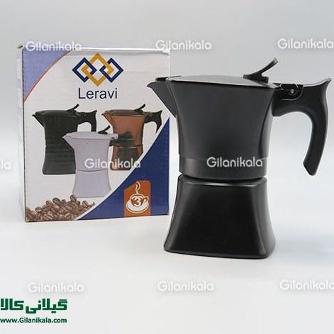 تصویر قهوه جوش و اسپرسوساز دستی 3 کاپ برند Leravi