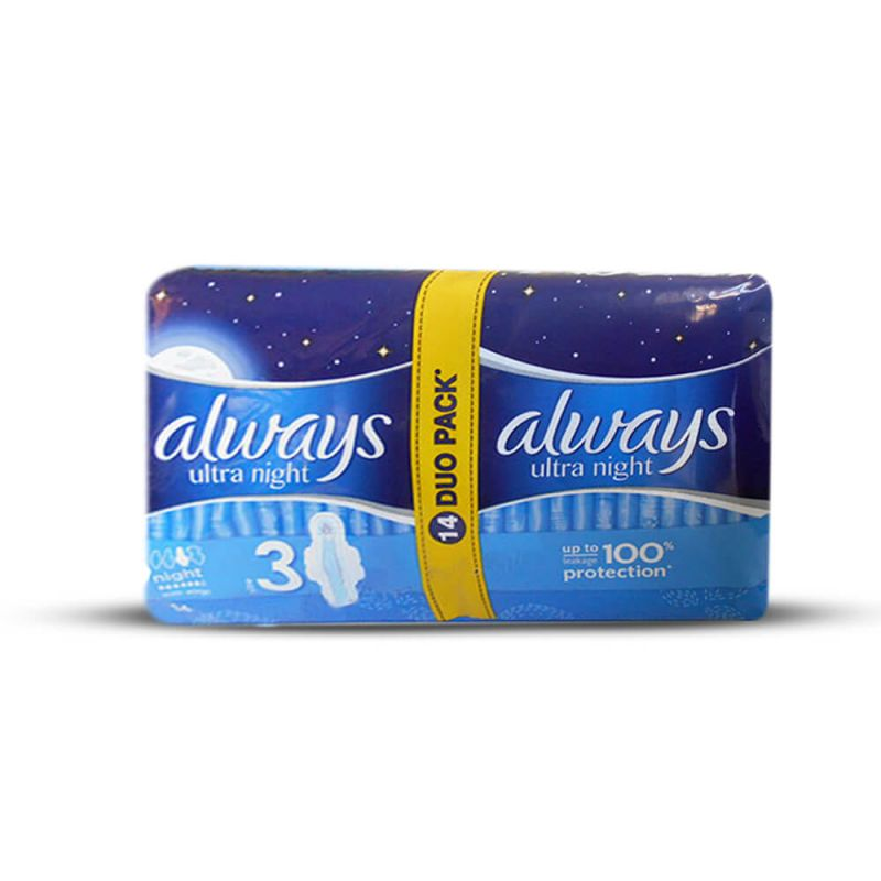 Always Ultra Night Sanitary Pad Extra Large 14Pcs