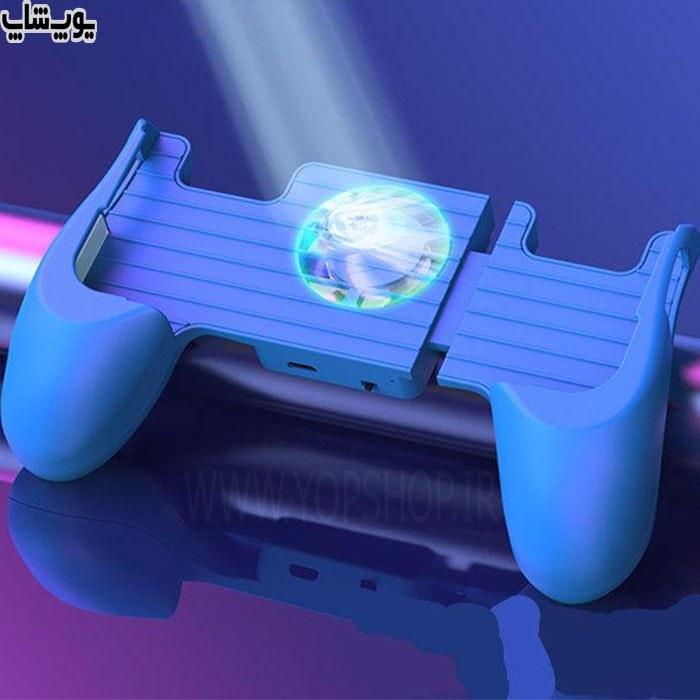 تصویر فن خنک کننده گوشی دارای نور RGB مدل MK
