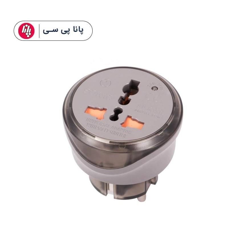 تصویر مبدل برق 3 به 2 سومو مدل SM100 Somo SM100 AC Adapter Plug Converter