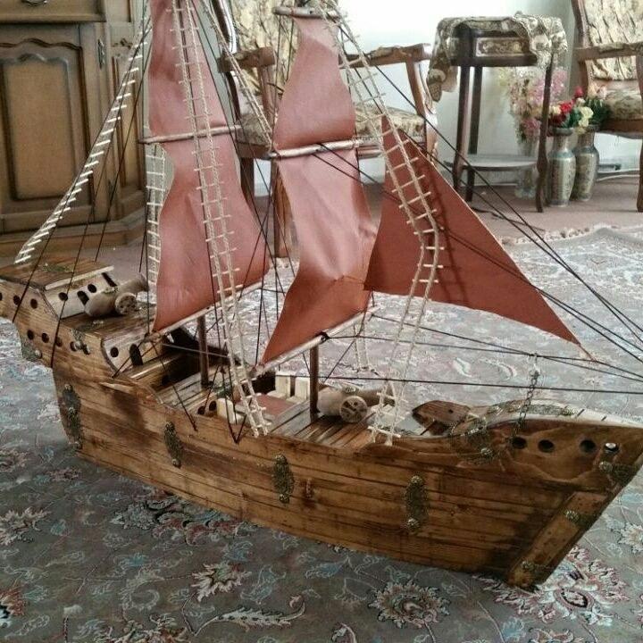 کشتی چوبی بادبانی دکوری – طرح خلیج |