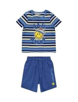 تی شرت و شلوارک نخی نوزادی پسرانه   Baby Boys Cotton T-Shirt And Shorts