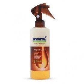تصویر سرم مو دوفاز آرگان 250 میلی لیتری مارال maral Maral 2 Phase Argan Oil Hair Serum 250ml