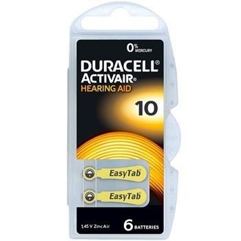 باتری سمعک دوراسل شماره 10 بسته 6 عددی | Duracell hearing aid battery No.10 pack of 6