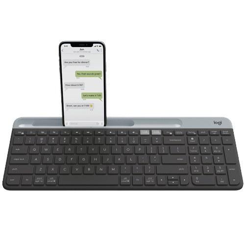 تصویر کیبورد بی سیم لاجیتک مدل K580 K580 Slim Multi-Device Keyboard