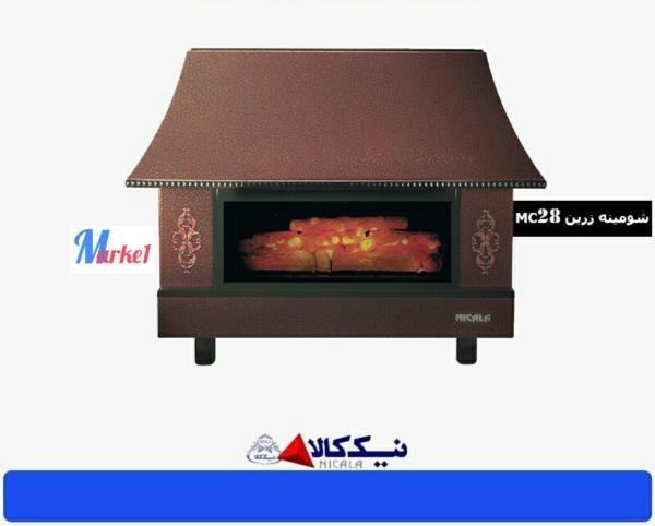 تصویر بخاری گازی شومینه ای نیک کالا مدل زرین mc28 Good Heat Chimney Gas Heater Model mc28