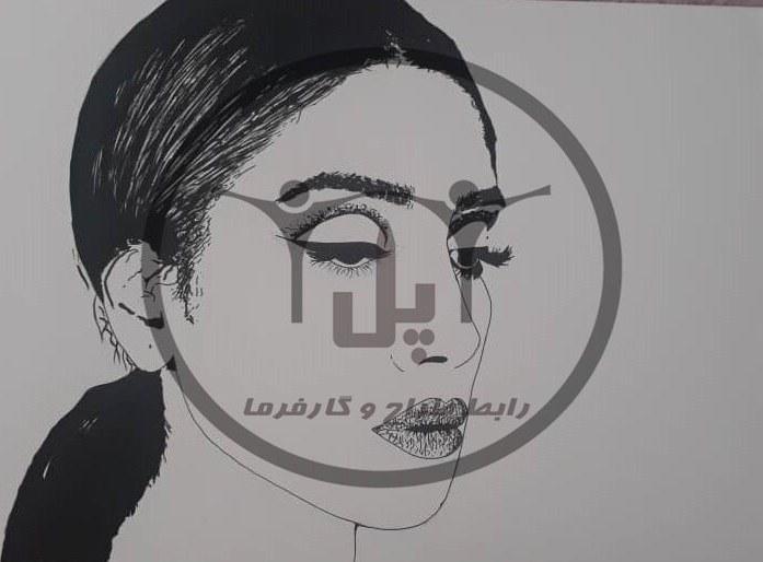 image طراحی چهره مدرن سارا سلمان زاده (سایزA2)