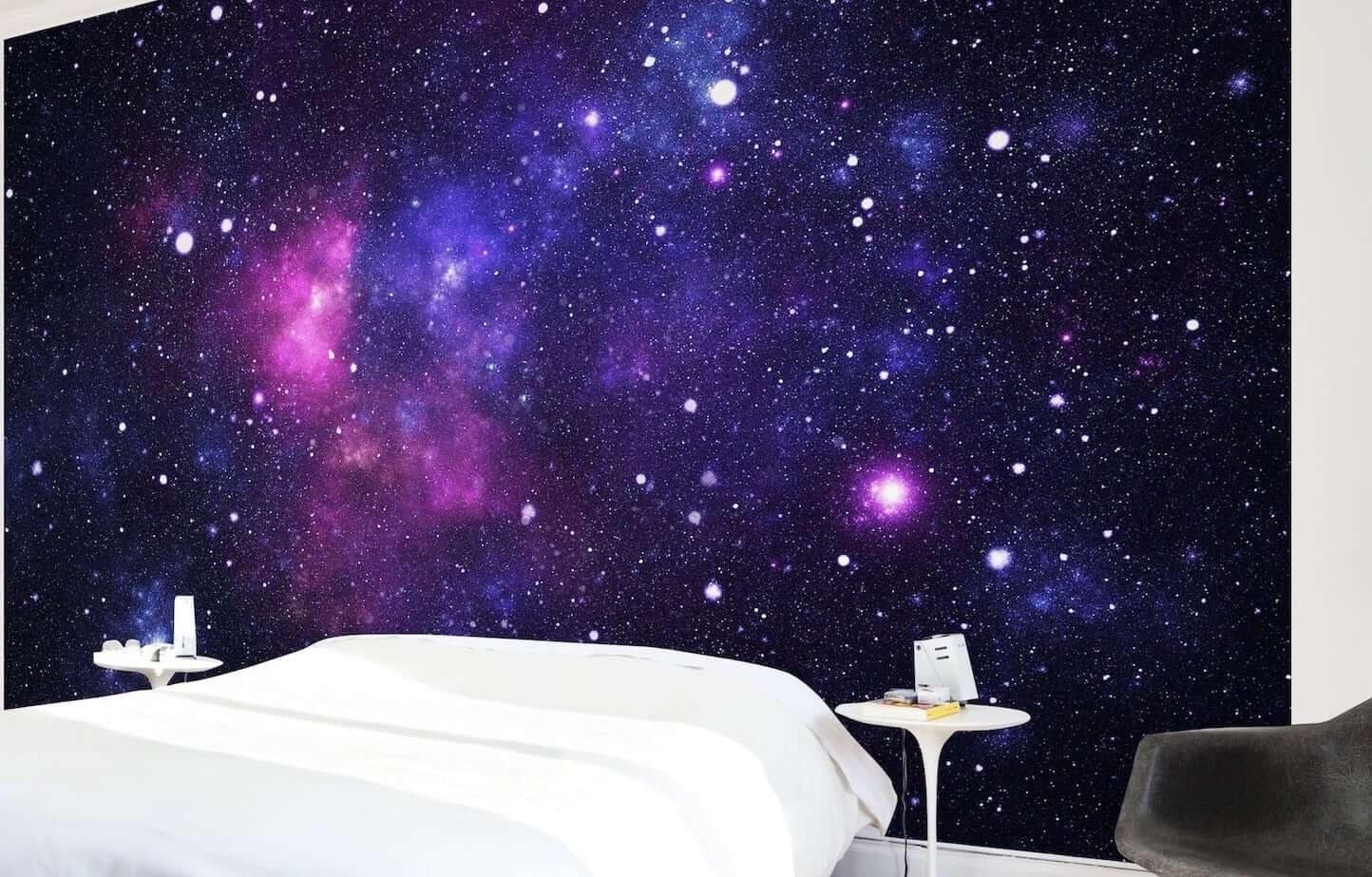 تصویر کاغذ دیواری سه بعدی کهکشان کد 1250