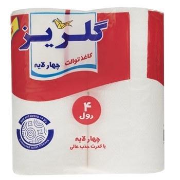 تصویر دستمال توالت گلريز بسته 4 عددي Golriz Toilet Tissues 4 Rolls