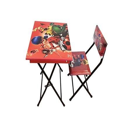 عکس میز تحریر باکسدار و صندلی تاشو طرح دختر  میز-تحریر-باکسدار-و-صندلی-تاشو-طرح-دختر