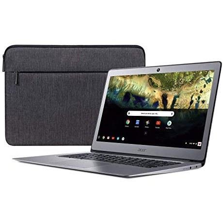 پردازنده چهارگانه هسته ای Acer 14in FHD IPS Chromebook با پردازنده 3 برابر سریعتر WiFi ~ Celeron N3160 حداکثر 2.24 گیگاهرتز ~ 4 گیگابایت رم ~ 16 گیگابایت SSD ~ HDMI ~ USB 3.0 ~ وب کم ~ وب کم ~ باتری 12 ساعته ~ Chrome OS (تجدید شده) (16 گیگابایت)