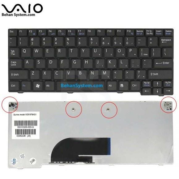main images کیبورد لپ تاپ SONY مدل VPC-M به همراه لیبل کیبورد فارسی جدا گانه