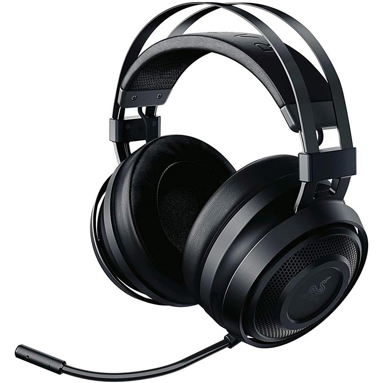 تصویر Razer Nari Essential: THX Spatial Audio - صوتی بی سیم 2.4 گیگاهرتز - هدست تنظیم خودکار - هدست بازی با رایانه و PS4 کار می کند Razer Nari Essential Wireless 7.1 Surround Sound Gaming Headset: THX Spatial Audio - Auto-Adjust Headband & Swivel Cups - Auto-Adjust - Flip Mic - For PC, PS4, PS5 Only - Black