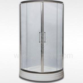 تصویر کابین دوش آلیبرت A203 _ 80*80 شیشه شفاف زرین آب