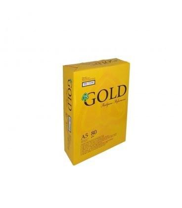تصویر کاغذ گلد سایز A5 بسته 500 عددی Gold Size A5 Size 500 Numeric
