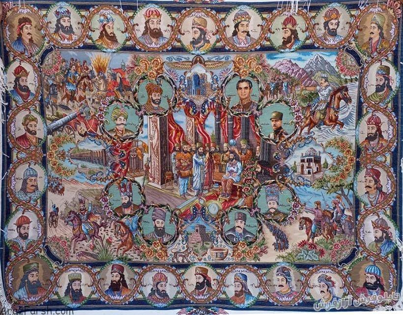 تصویر تابلو فرش دستباف قالیچه سلاطین – ۷۵۹