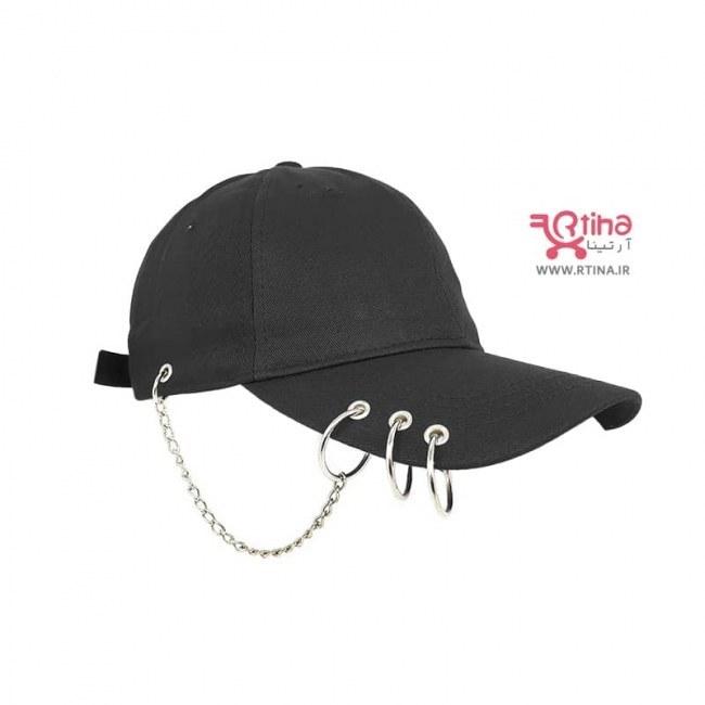 تصویر کلاه اسپرت حلقه دار پسرانه/ دخترانه مدل زنجیر دار