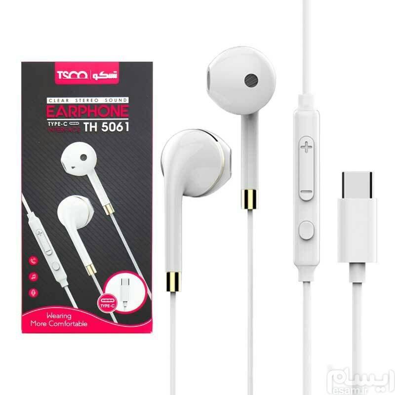 عکس هدست با سیم Type C تسکو TH 5061 - سفید headset tesco th 5061 هدست-با-سیم-type-c-تسکو-th-5061-سفید