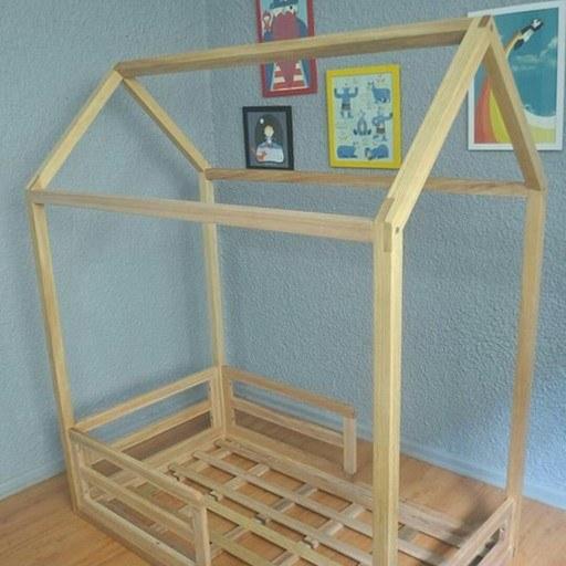 تخت کلبه کودک   تخته کلبه کودک با جنس چوب نرادکلبه رشت