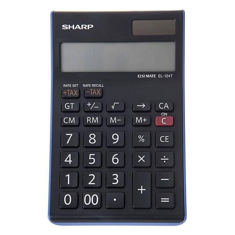 تصویر ماشین حساب شارپ مدل EL-124T|آبی SHARP EL-124T Calculator
