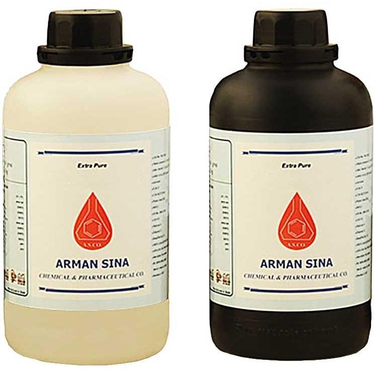 تصویر نیتریک اسید 55 درصد گرید آزمایشگاه یک لیتری بطری پلاستیکی آرمان سینا