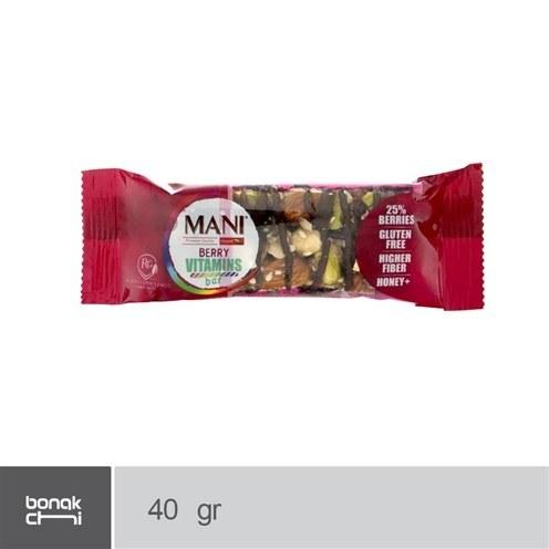 تصویر نات بار مخلوط کرنبری شکلاتی مانی - 40 گرم Mani Knut bar chocolate cranberry mixture - 40 g