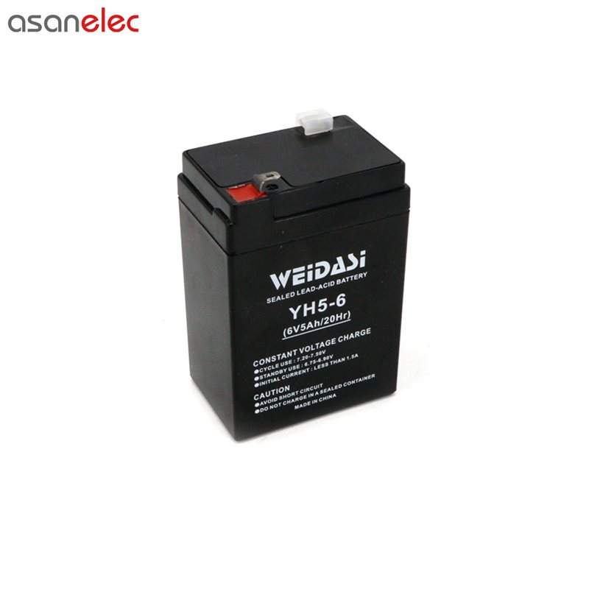 تصویر باتری شارژی 6 ولت ویداسی مدل YH5-6
