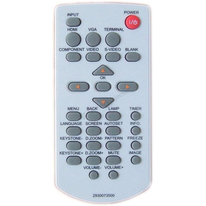 تصویر ریموت کنترل ویدئو پروژکتور اسک پراکسیما کد 1 – Ask Proxima remote control
