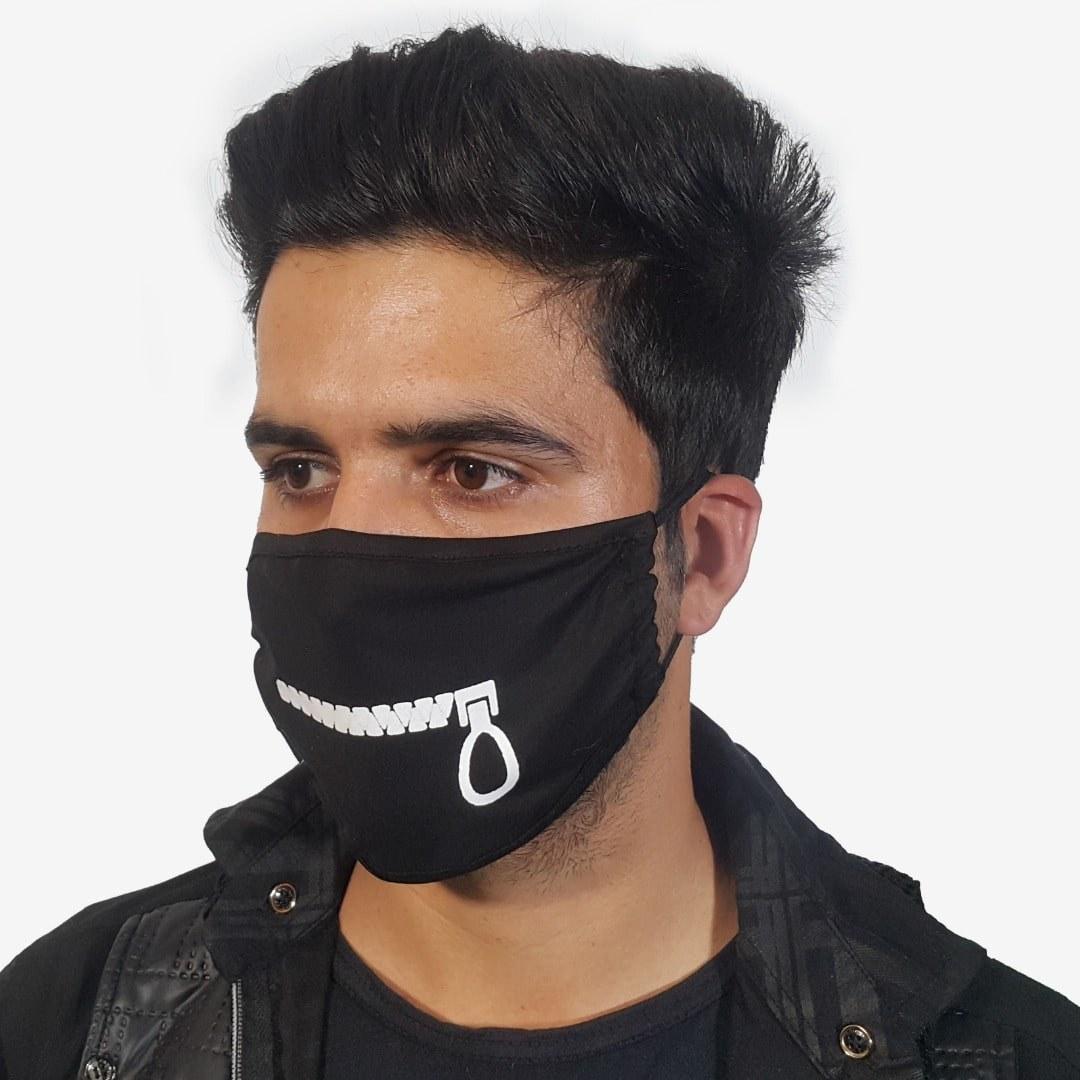 تصویر ماسک پارچه ای طرح زیپ (دارای مجوز بهداشت)