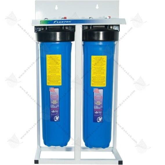 تصویر هوزینگ 20 اینچ 2 مرحله جامبو ورودی 1 اینچ فلکستک 2Stage Water Filter Housing 20 inch Jumbo with 1 inch input Fluxtek