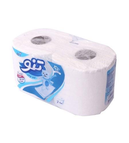 تصویر دستمال توالت 2 رول تنو