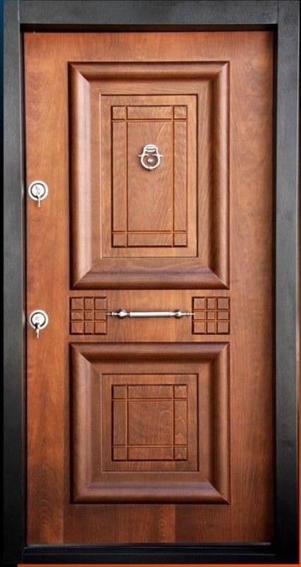 تصویر درب ضد سرقت آبنوس روکش راش - 110*210 / چپ بازشو