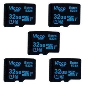 کارت حافظه microSDHC ویکومن مدل Extre 533X کلاس 10 استاندارد UHS-I U1 سرعت80MBps ظرفیت 32 گیگابایت بسته 5 عددی