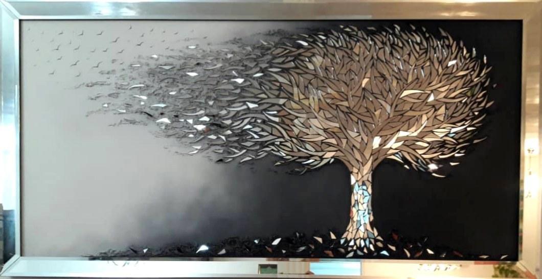 تصویر تابلو نقاشی درخت آیینه ی با قاب کد ۱۰۱۹۹۵