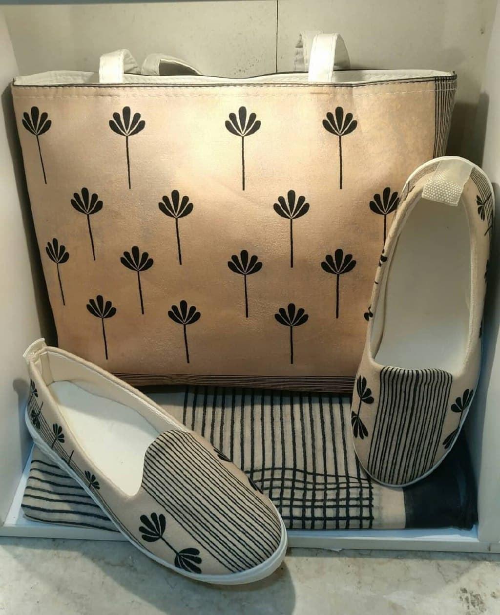 تصویر ست سه تیکه کیف کفش روسریdk0039