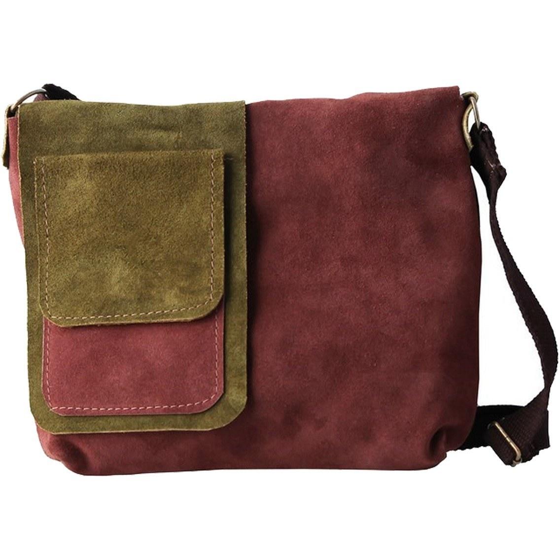کیف دوشی چرم طبیعی گالری ستاک کد 81015