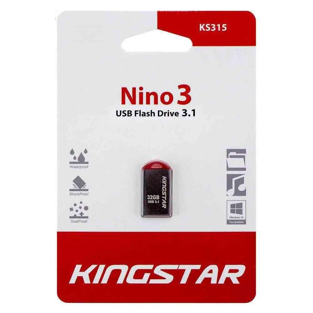 تصویر فلش مموری کینگ استار مدل KS315 Nino3 ظرفیت 32 گیگابایت Kingstar Nino3 KS315 Flash Memory - 32GB