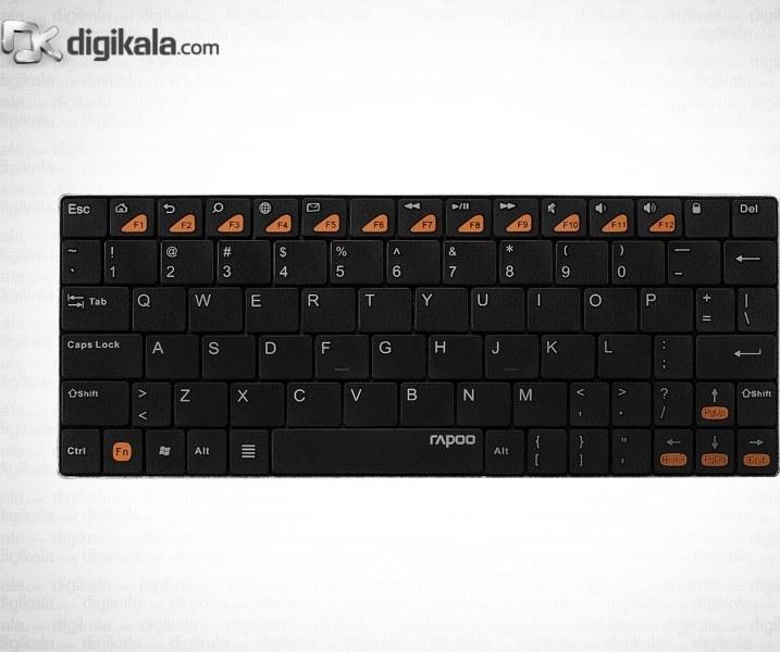 تصویر کيبورد بلوتوث و بسيار باريک رپو مدل E6500 Rapoo E6500 Blade Bluetooth Keyboard