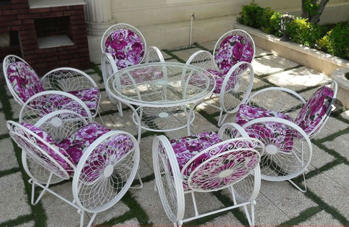 میز و صندلی باغی مدل گلبرگ