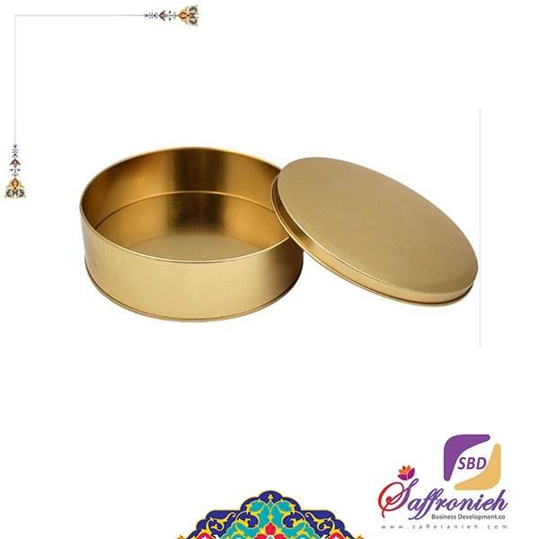 تصویر قوطی فلزی بدون طلق قطر 9 ارتفاع 2.5 (200 طلایی)