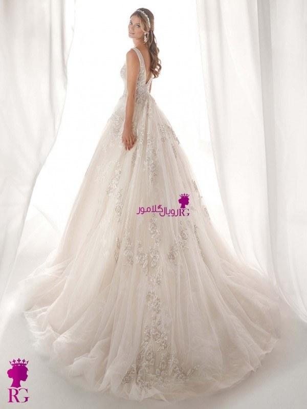 تصویر لباس عروس پفدار