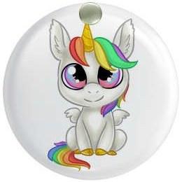 آینه جیبی  طرح اسب تک شاخ یونیکورن کد ai23  