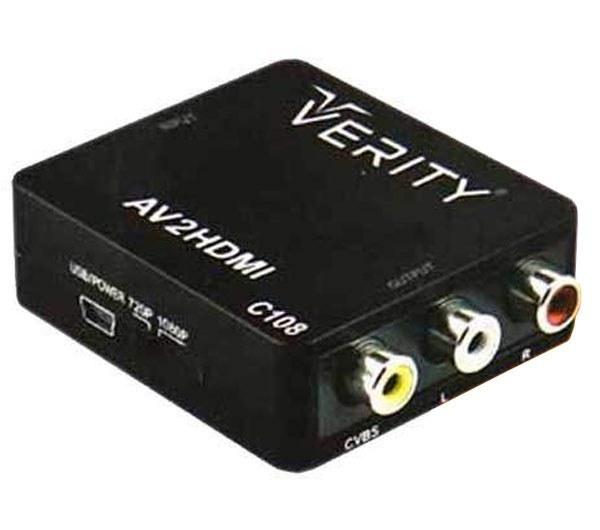 تصویر مبدل HDMI به AV وریتی مدل C108 Verity C108 AV RCA to HDMI converter