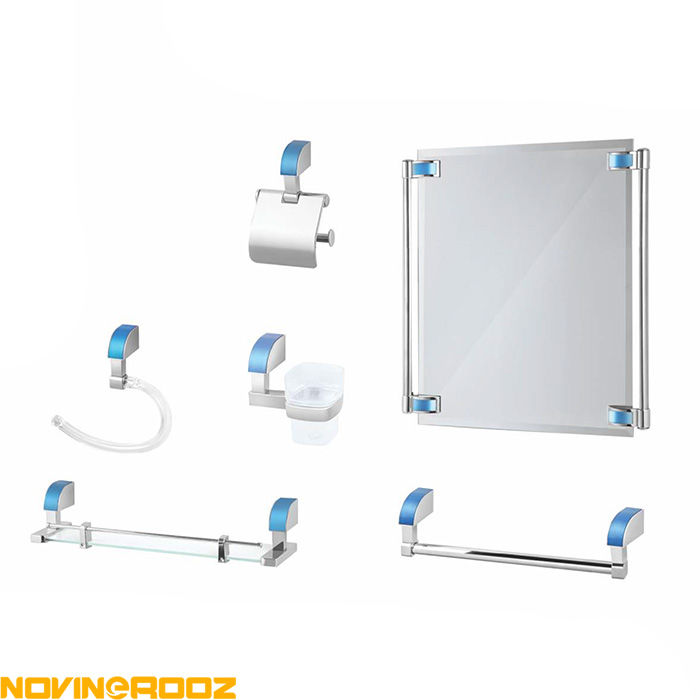 تصویر سرویس 6پارچه سرویس بهداشتی کاریز مدل پادنا کروم رنگی Kariz Bathroom Accessory Set