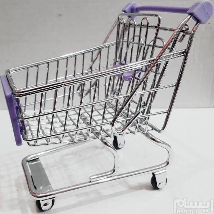 تصویر جا اسکاجی فلزی طرح سبد فروشگاهی