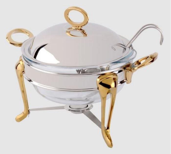 تصویر سوفله سوپ خوری بزرگ حلقه ساده طلایی یونیک UN-3830